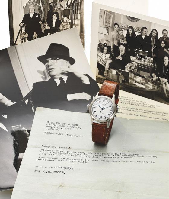 chaplin watch - 8 ساعت گران قیمتی که در مزایده ها به فروش رسید