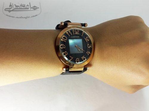 نمای روی دست ساعت زنانه کارتیه