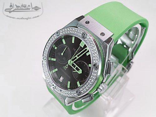 ساعت سبز رنگ هابلوت-04