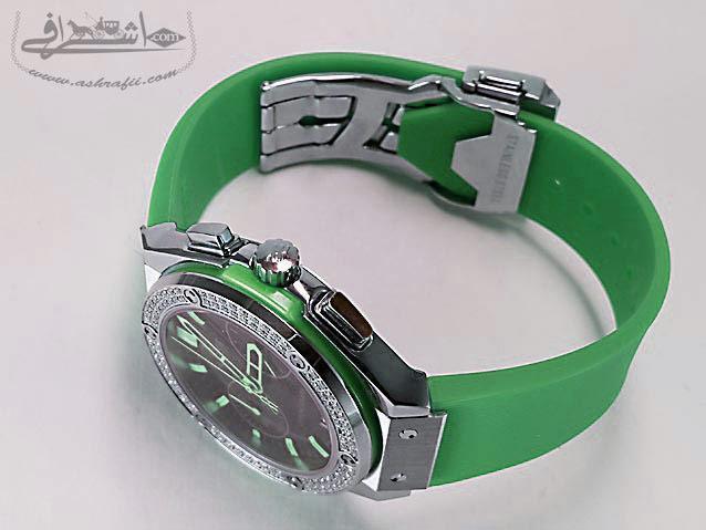 ساعت سبز رنگ هابلوت-05