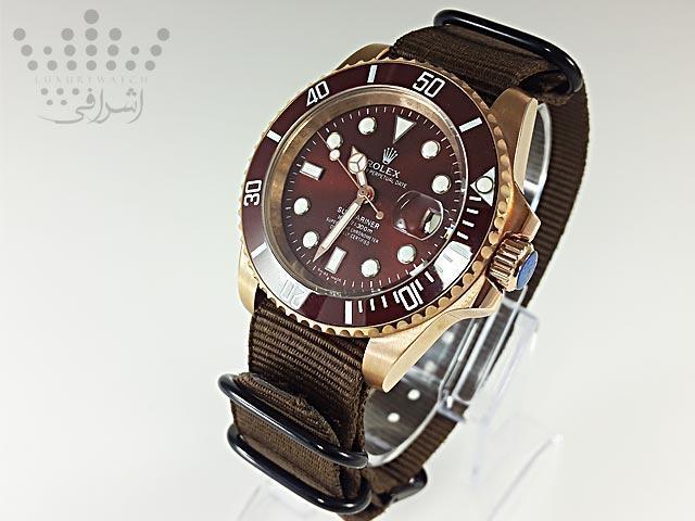 ساعت رولکس با بند پارچه ای-04