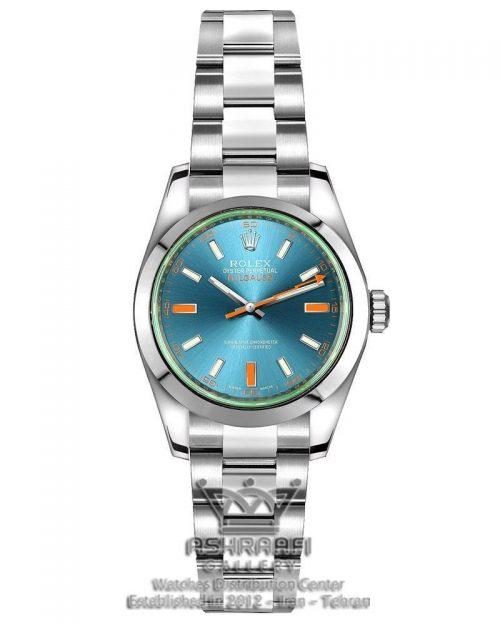 ساعت رولکس میلگاس صفحه سبز آبی ROLEX Milgauss-B1