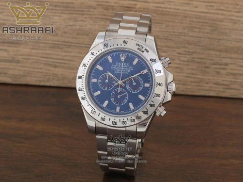 ساعت رولکس دیتونا صفحه سورمه ای Rolex Daytona D18