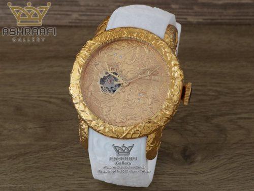 ساعت دراگون دیزاین اینوکتا با بند سفید رنگ Invicta S1 25082-BG