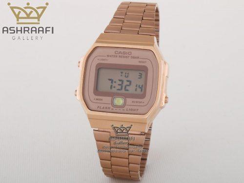 ساعت کاسیو نوستالژی مسی رنگ Casio A168WE