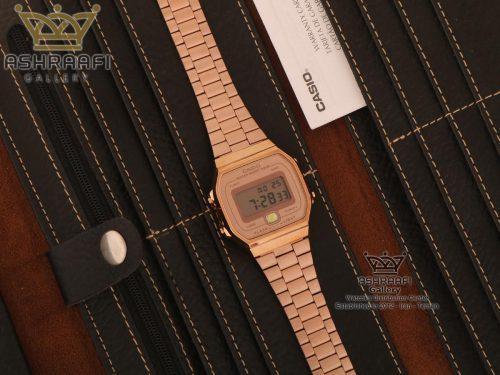 ساعت کاسیو مسی رنگ نوستالژی Casio A168WE