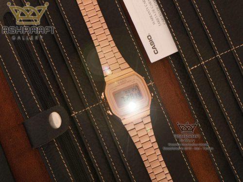ساعت کاسیو مسی رنگ نوستالژی با چراغ قوه Casio A168WE