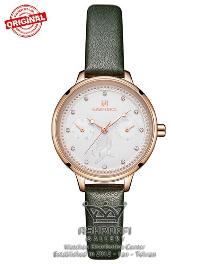 ساعت ناوی فورس زنانه سبز رنگ Naviforce NF5003L
