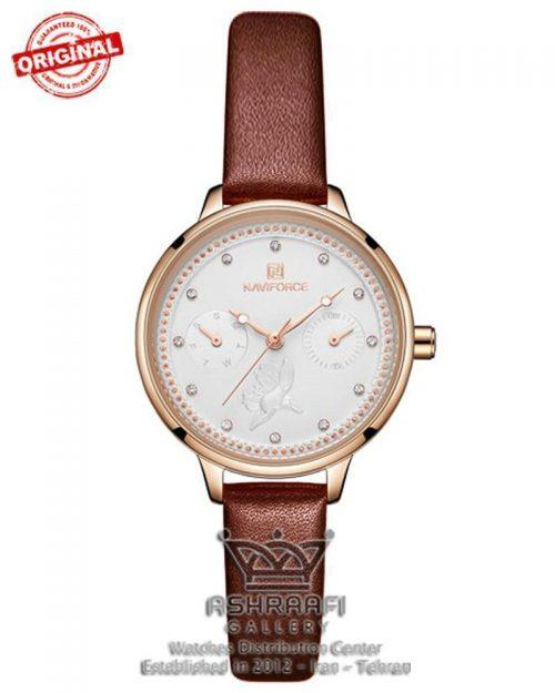 ساعت ناوی فورس زنانه قرمز رنگ Naviforce NF5003L