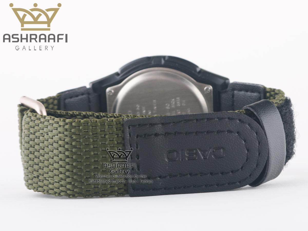 ساعت مردانه بند سبز Casio AW-80V-3BVDF