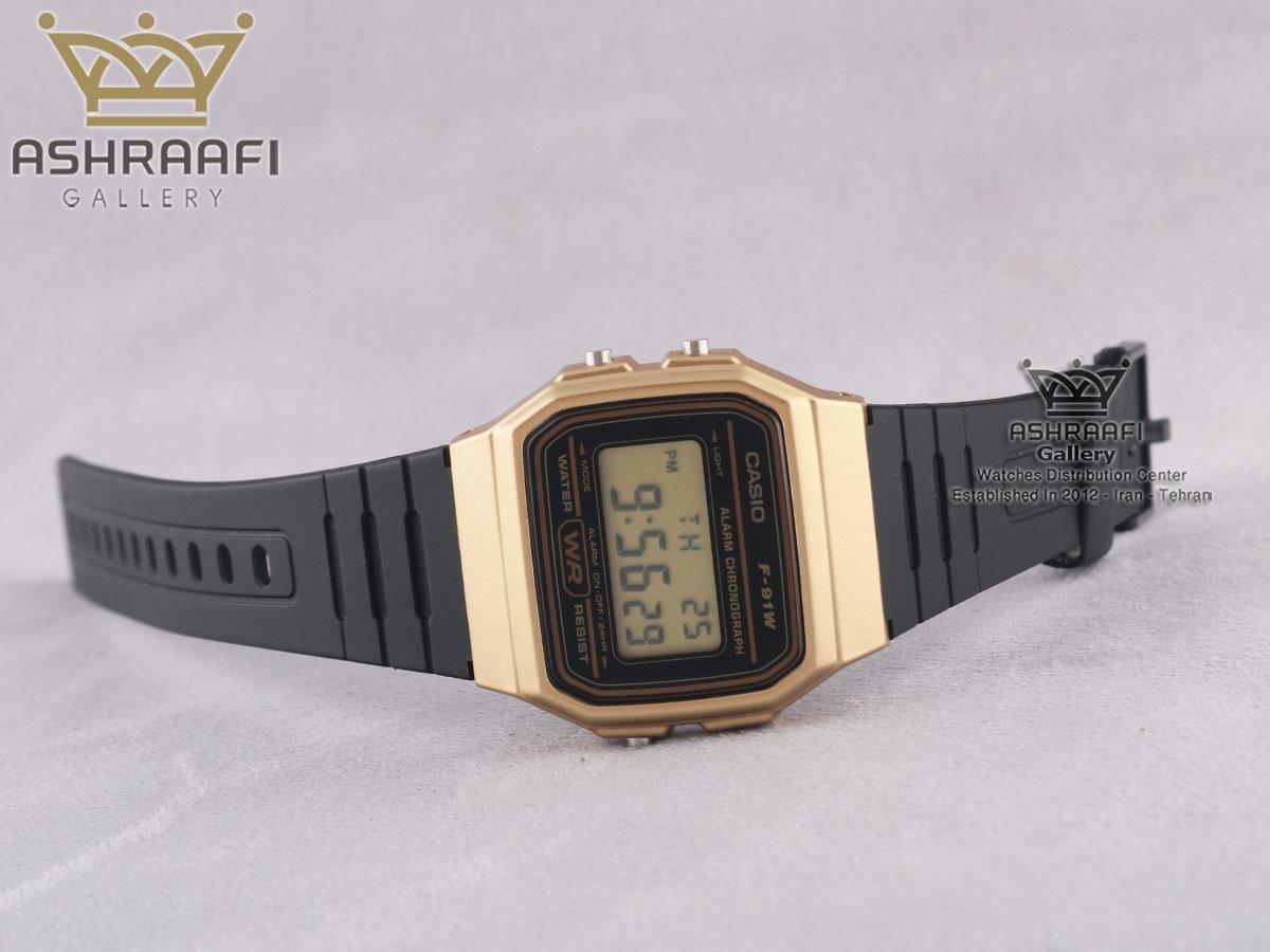 فروش ساعت کاسیو قاب بژ F91WM