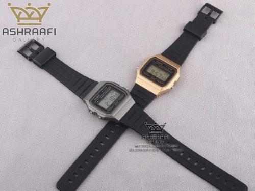 فروش ساعت کاسیو قاب طلایی و قاب نقره ای F91WM