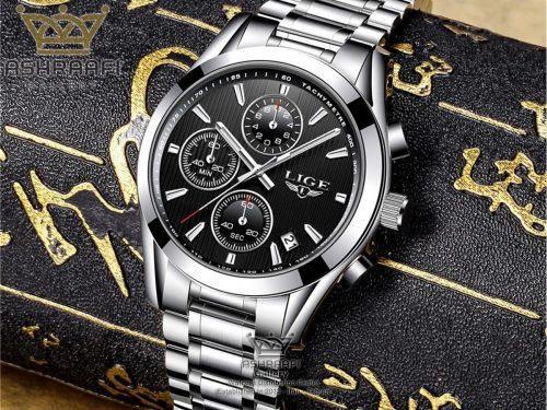 قیمت ساعت تمام استیل لیگ مدل 9826A