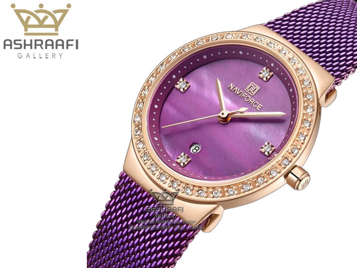 ساعت بنفش رنگ زنانه Naviforce NF5005L