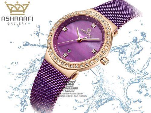 ساعت رنگ بنفش زنانه Naviforce NF5005L