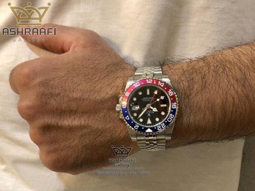 عکس روی دست ساعت پپسی رولکس