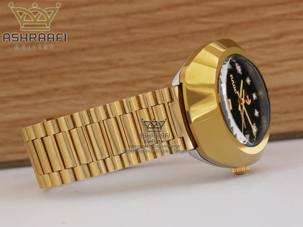 ساعت رپلیکا تمام طلایی Rado Diastar R124B