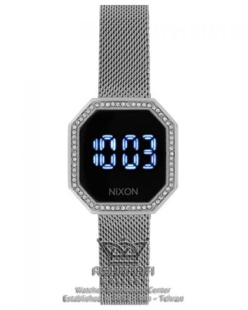 ساعت تاچ نگین دار نقره ای Nixon Robot Rock 10F
