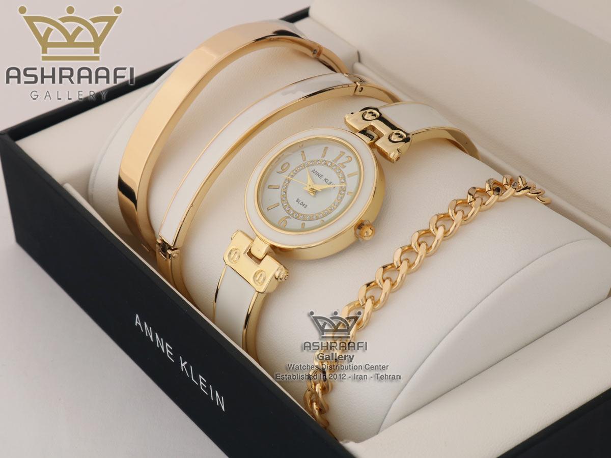 ساعت سفید رنگ زنانه آنه کلین Anne klein SL043