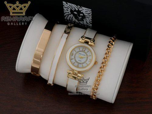 دست بند و ساعت آنه کلین سفید رنگ Anne klein SL043