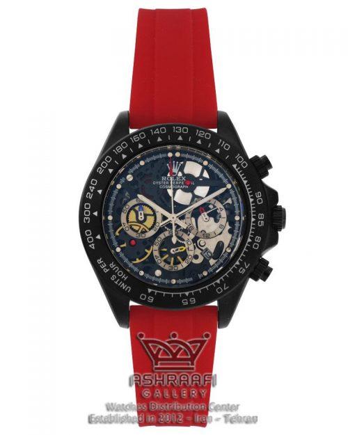 ساعت رولکس سه موتوره بند قرمز ROLEX Cosmograph SK8