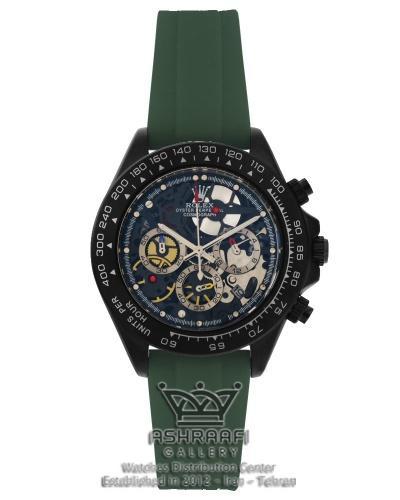 ساعت رولکس سه موتوره بند سبز ROLEX Cosmograph SK8