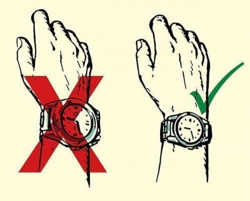 انتخاب ساعت متناسب با اندازهی دست