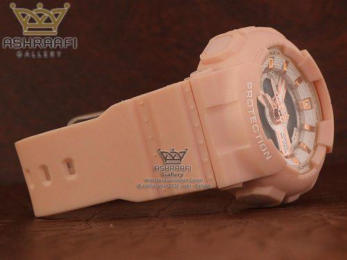 ساعت اسپرت زنانه گلبه ی رنگ Baby-g BA-110RG
