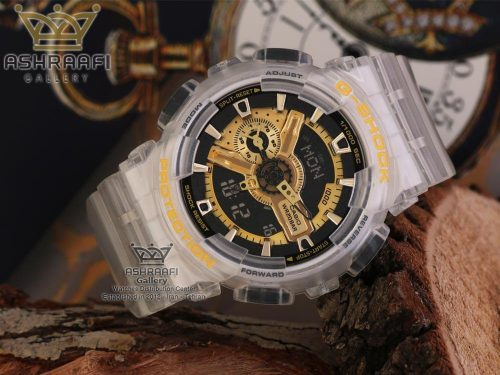 ساعت طلایی و شفاف جی شاک G-shock GA-110RG