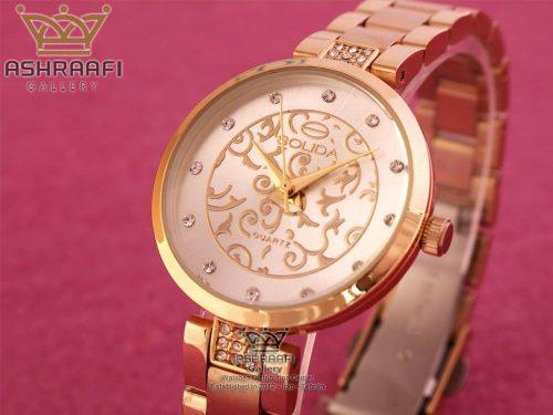 ساعت گل دار سولیدا Solida S1110L