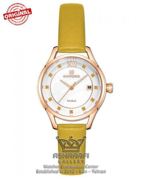 ساعت بند زرد Naviforce NF5010L