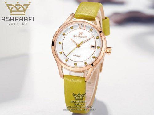 ساعت زنانه با رنگ بند موزی Naviforce NF5010L