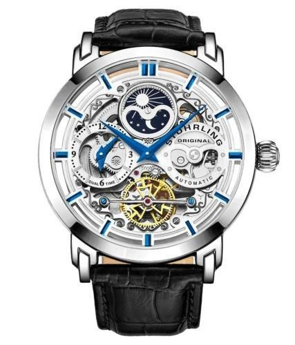 Stuhrling Original Men's Automatic Self-Wind Skeleton Wristwatch