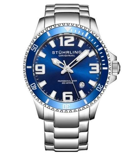 Stuhrling Original Men's Swiss Quartz Dive Watch