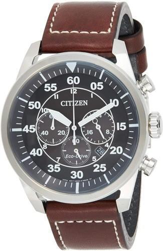 ساعت Citizen Eco-Drive Stainless Steel Leather Aviation