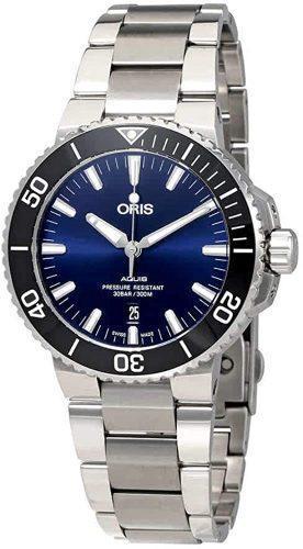 ساعت اتوماتیک Oris Aquis صفحه آبی
