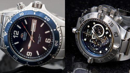 مقایسه برندهای ساعت Orient و Invicta