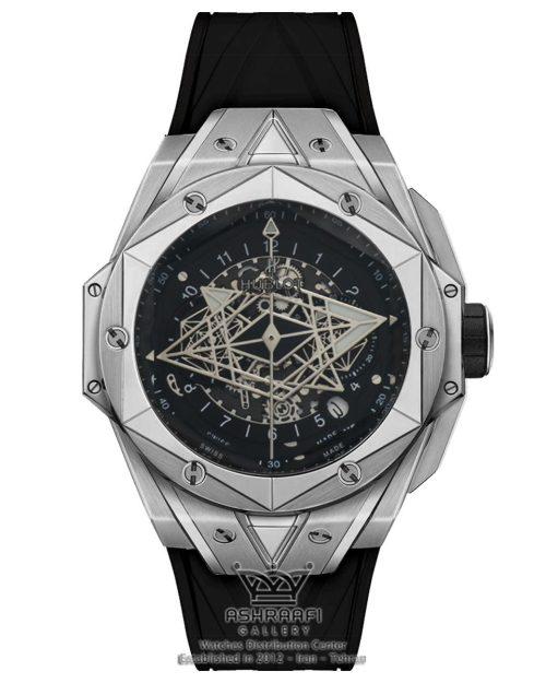 ساعت هابلوت فضایی قاب استیل Hublot Big Bang Sang Bleu 3