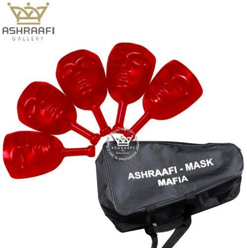 ماسک مافیا قرمز رنگ پک پنج عددی