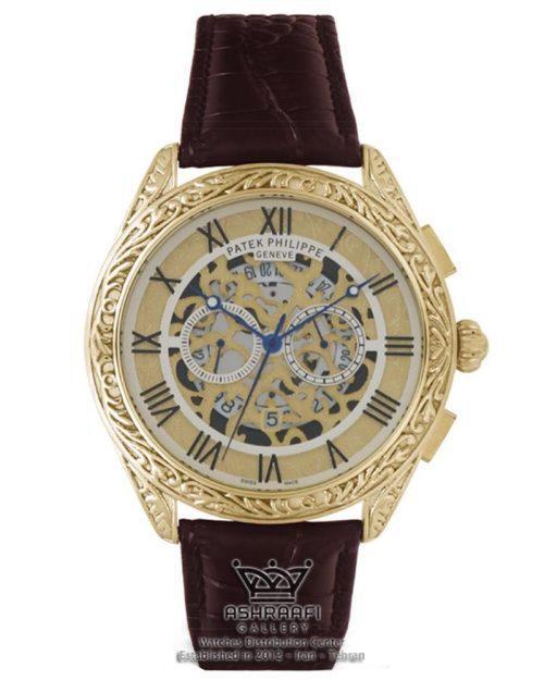 ساعت مردانه پتک فیلیپ کنده کاری شده زیبا