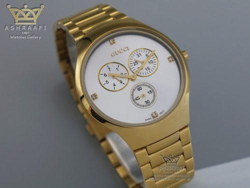 صفحه ساعت گوچی تمام طلائی Gucci 14012