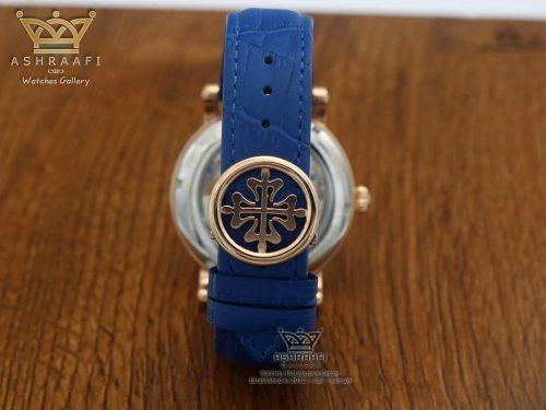 ساعت مردانه بند آبی Patek Philippe P005052 RG