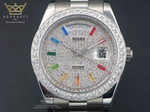 ساعت رولکس اندکس رنگین کمانی