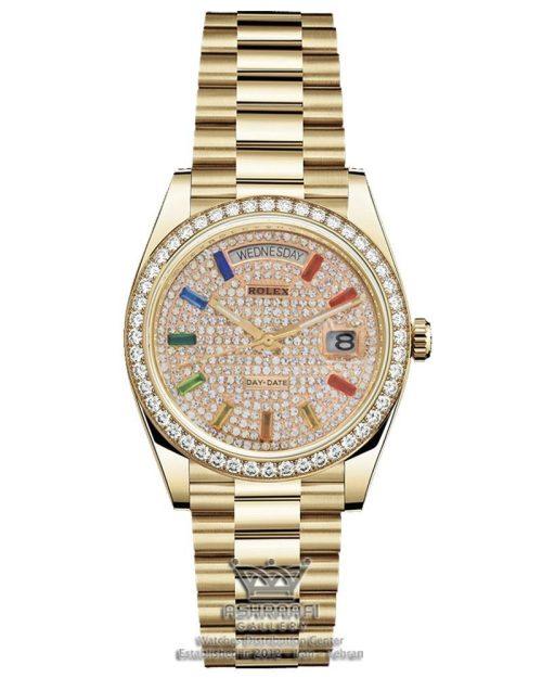ساعت رولکس Rolex Day date pave rainbow 04