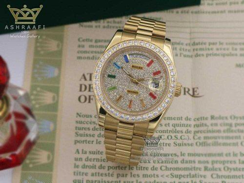 Rolex Day date pave rainbow 04
