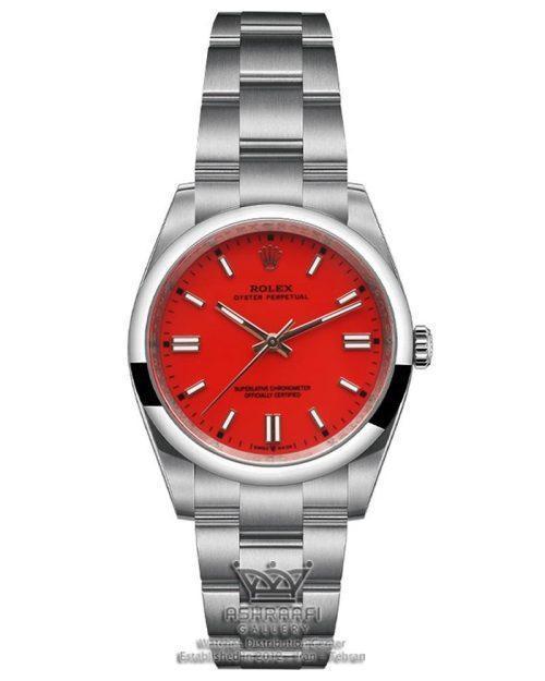 ساعت رولکس پرپچوال صفحه قرمز مرجانی
