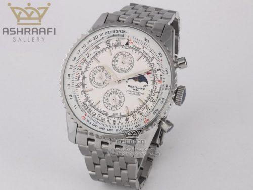 ساعت فلزی صفحه سفید برایتلینگ Breitling Certifie A13356