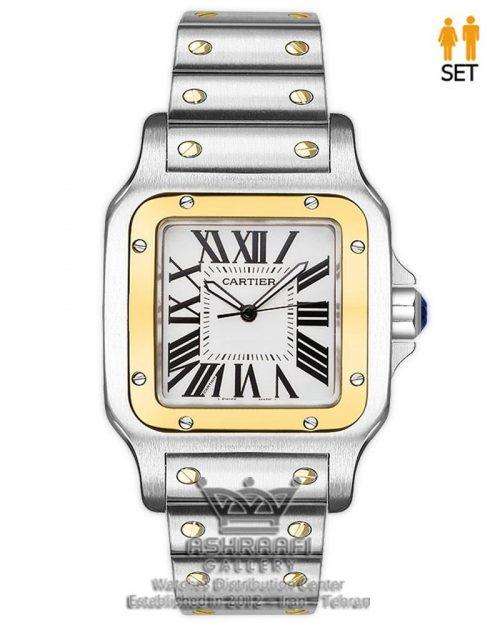 ساعت کارتیه سانتوز فلزی Cartier Santos 100-2CFS