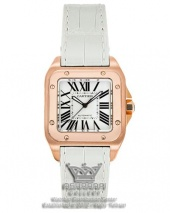 ساعت کارتیه سانتوز سفید Cartier Santos 100-FW
