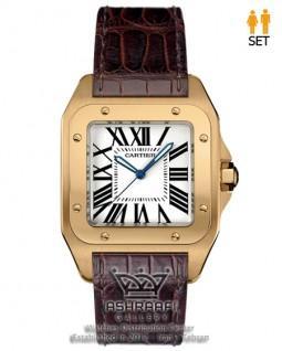 ساعت مستطیل کاریته سانتوز Cartier Santos 100-RW